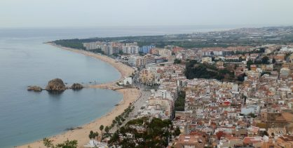 Blanes view from the tower of Castell de Sant Joan Costa Brava