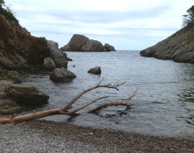 Beach at Cala Ferriol near Estartit Costa Brava