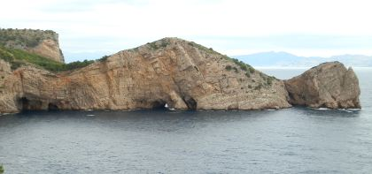 Cala Foradada or Cap del Castell near Estartit with sea caves