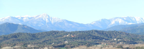 View to Montseny with snow