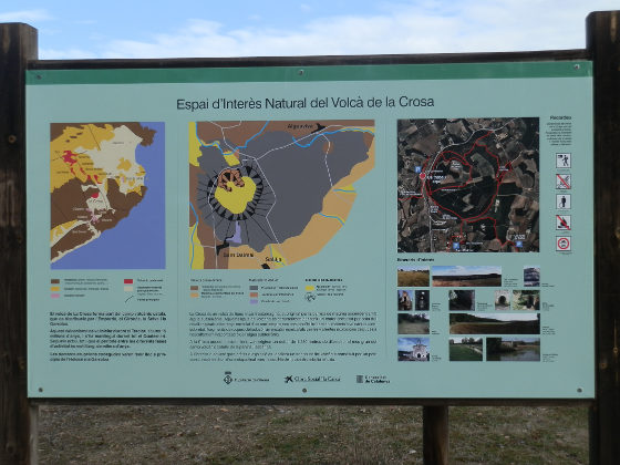Information sign at Volca de la Crosa