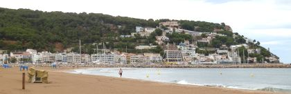 Estartit from the beach Costa Brava