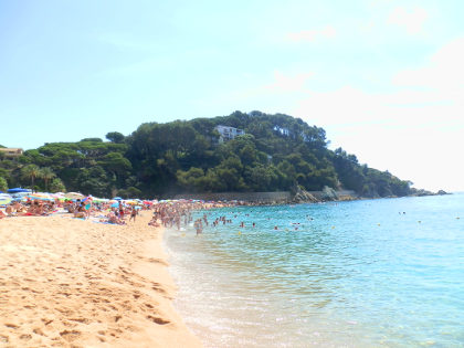 Lloret de Mar Fenals beach to north