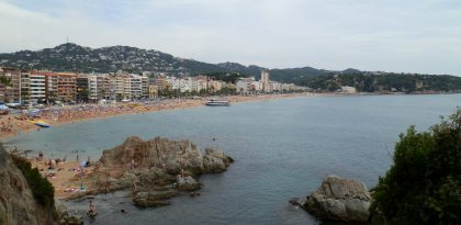 First view of Lloret main beach