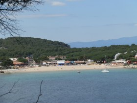 Sandy beach at Montgo near Escala