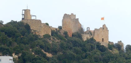 Palafolls castle from a distance