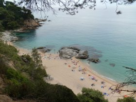Platja de Boadella between Lloret and Blanes Costa Brava