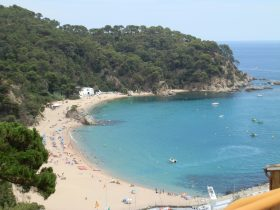 Platja de Canyelles between Lloret and Tossa de Mar Costa Brava