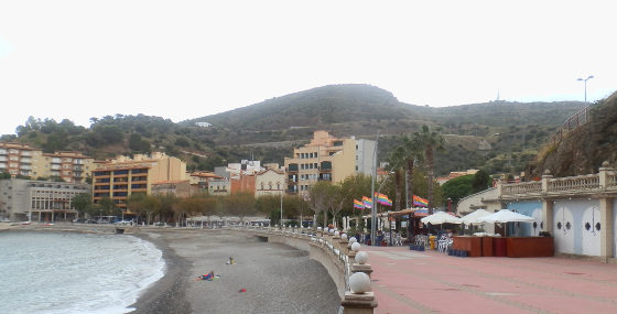 Portbou beach area