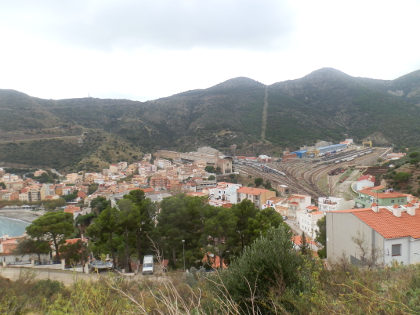 Portbou view over town