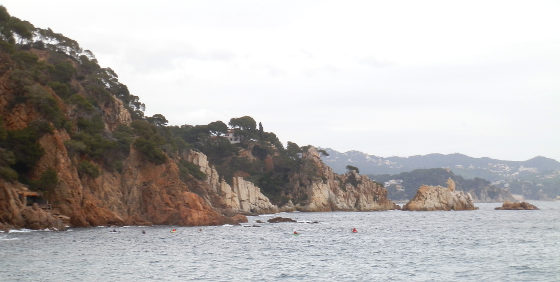 View from Sant Francesc bay in Blanes