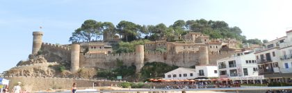 Fortified old town of Tossa de Mar from the main beach